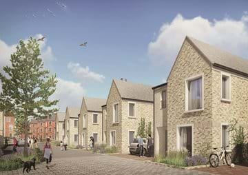 CGI view of new homes for sale in Portland, Dorset